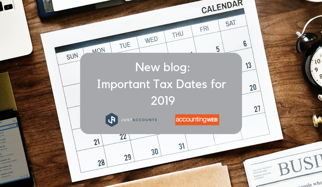 Important Tax Dates 2019
